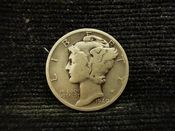 United States, Silver (.900), Mercury Dime 1940 D, F, MR367